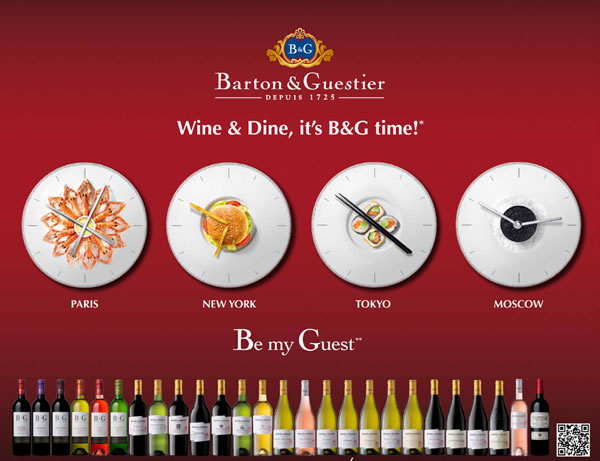 B&G Wine & Dine advertising campaign