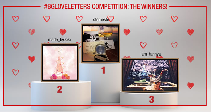 #BGloveletters competition: the winners!